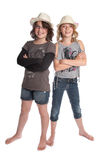 Two girls standing Stock Photography
