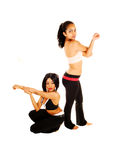 Two girls stretching. Stock Image