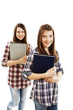 Two girls students Royalty Free Stock Image