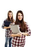 Two girls students Stock Image