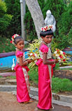 Two girls are taking part in wedding ceremony Royalty Free Stock Photos