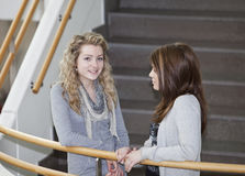 Two girls talking Royalty Free Stock Images