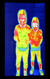 Two girls thermography. Thermography screen with two girls Stock Photography