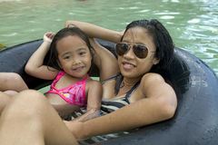 Philippines - Two Girls Swimming Stock Images