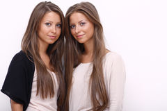 Two girls twins Stock Photo