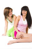 Two girls in underwear Stock Image