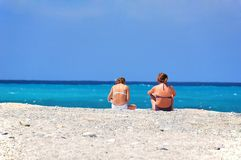 Two girls on a vacation Royalty Free Stock Photo