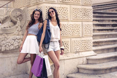 Two girls on vacation Royalty Free Stock Photos