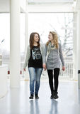 Two girls walking Royalty Free Stock Image