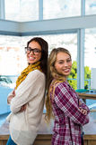 Two girls work at office Royalty Free Stock Photography