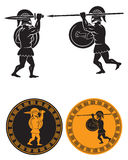Two gladiators. The figure shows a fight between two gladiators Royalty Free Stock Images