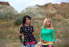 Two glamorous girls Stock Image