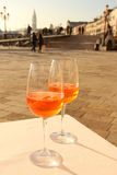 Two glases of Venetian drink Royalty Free Stock Image