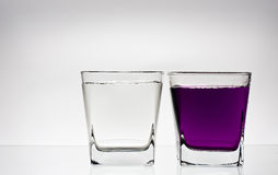 Two glases with water Royalty Free Stock Image