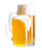 Two glass of beer isolated Royalty Free Stock Image