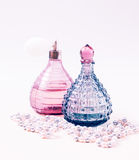 Two glass bottles Stock Photos