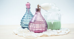 Two glass bottles Royalty Free Stock Photos