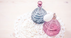 Two glass bottles Royalty Free Stock Photography