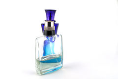 Two glass bottles for perfumery Royalty Free Stock Images