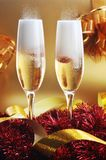 Two glass with champagne Royalty Free Stock Photo