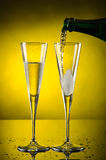 Two glass champagne Royalty Free Stock Image