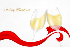 Two glass champagne glasses Royalty Free Stock Photo