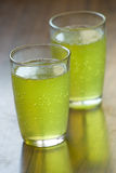 Two glass of chilled lemon mixed juice Stock Image