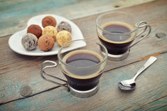 Two glass cups of coffee Royalty Free Stock Photos