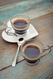 Two glass cups of coffee Royalty Free Stock Image
