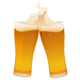 Two glass of delicious fresh cold beer Royalty Free Stock Image