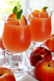 Two glass of fresh juice Stock Photos