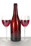 Two glass glasses with red wine Stock Photo