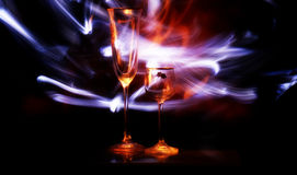 Two glass with light Stock Image