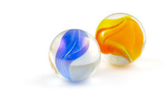 Two glass marbles Royalty Free Stock Photo