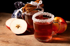 Two glass of mulled wine Stock Photos