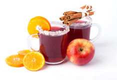 Two glass of mulled wine Royalty Free Stock Photos
