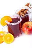 Two glass of mulled wine Royalty Free Stock Photo