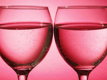 Two glass on red Royalty Free Stock Photo