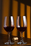 Two glass of red wine Royalty Free Stock Image