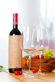 Two glass with red wine Royalty Free Stock Image