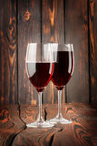 Two glass of red wine Stock Images