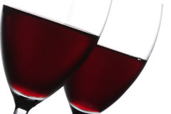 Two glass of red wine closeup Royalty Free Stock Photography