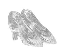 Two glass shoes Stock Image