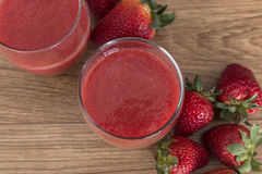 Two glass of strawberry juice Stock Image