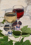 Two glass of vine Royalty Free Stock Images