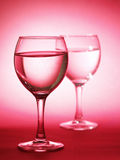 Two glass with water Stock Photos