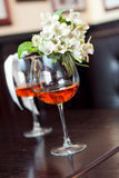 Two glass of wine Stock Images