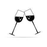 Two glass of wine black  Stock Photography