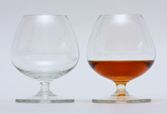 Two glasses. For brandy / cognac Stock Image