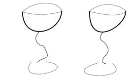 Two glasses Stock Photos